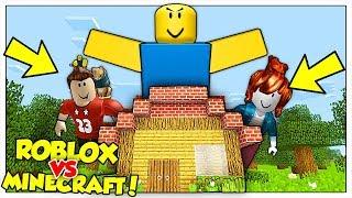 I NOOB DI ROBLOX GIGANTI ATTACCANO LA NOSTRA CASA! - Minecraft ITA