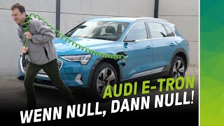 Audi e-tron out of juice! What to do below 0 km of range?