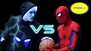 Spiderman vs Electro 1v1... Spiderman Basketball Episode 11