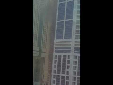 Fire accident in dubai media city