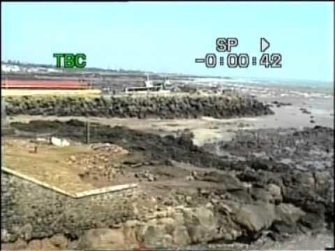Tsunami at Kanyakumari, Tamil Nadu, India, Boxing Day 2004: video 1