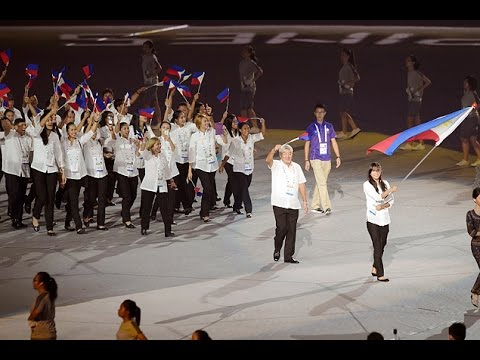 28th Southeast Asian Games: Philippine delegation during the march past of nations
