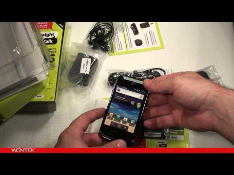 Straight Talk Huawei Ascend II Unboxing