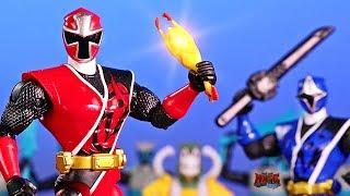 Power Rangers Ninja Steel Chicken Battle Toy Animation!