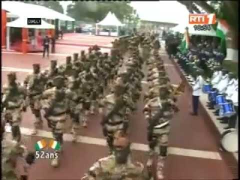 DEFILE DES FORCES SPECIALE IVOIRIENNE AOUT 2012