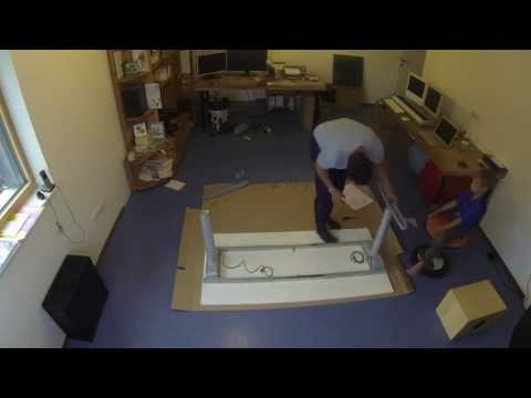 ikea assembly galant desk how to save money and do it. Black Bedroom Furniture Sets. Home Design Ideas