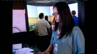 FAA Officials Demonstrate Air Traffic Control Simulator