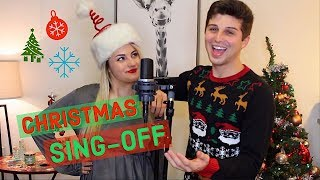 Singing 16 Christmas Songs to One Beat (SING-OFF)