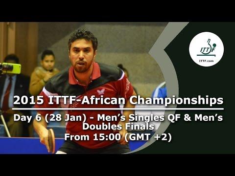 2015 ITTF-African Championships Day 6 - Men's Singles QF, Men's Doubles Finals