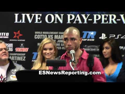 miguel cotto vs sergio martinez post fight press conference EsNews