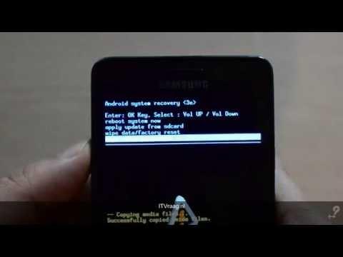 Samsung Galaxy S2 - Hard reset (ITVraag.nl)