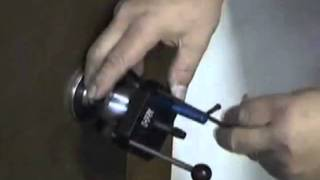 Removing door knobs with the HPC Key-in-Knob Remover
