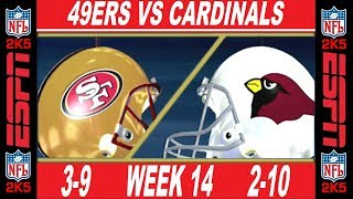 49ers vs Cardinals Week 14 ESPN NFL 2K5