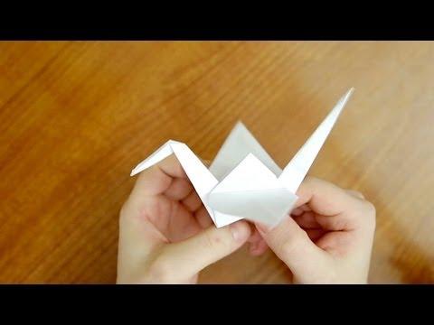 Оригами журавль из бумаги | Как сделать Оризуру (Orizuru/)