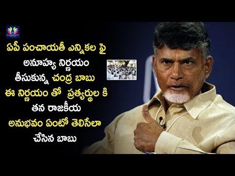 Chandrababu Naidu Reveals About #AP Panchayat Elections | #UnPredictable Decision | TFC News
