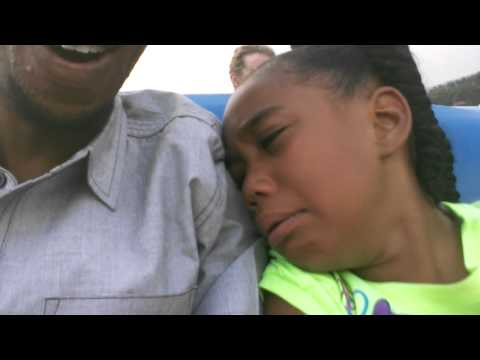 Kid scared to death on first roller coaster ride