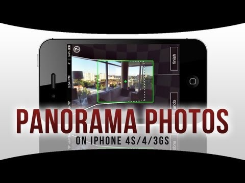 How to Take PANORAMA Photos on iPhone 4S.4.3GS without iOS 6