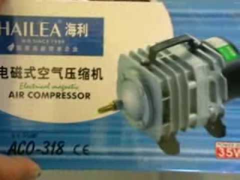 Hailea Air Pump 60L a minute unboxed. aquaponics aerator