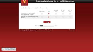 How to Participate in the www.Mcdvoice.com Web Survey