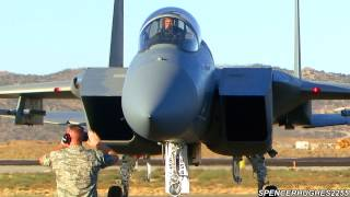 2012 Reno Air Races - F-15 Eagles Arrive (Wednsday)