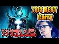 BEST CARRY Play EVER - Miracle- RAMPAGE Dota 2 7.03