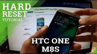 Hard Reset HTC One M8s - master reset tutorial