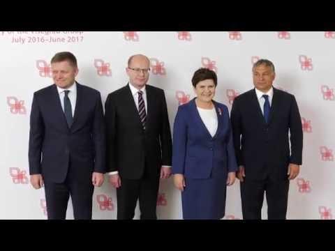 Beata Szydło Gości Szefów Rządów Państw Grupy Wyszehradzkiej