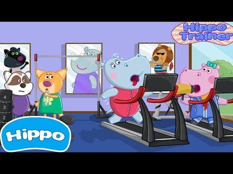 Гиппо 🌼 Детские спортивные игры 🌼 Гиппо Фитнес Тренер 🌼Мультик игра для детей (Hippo)
