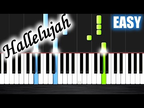 Hallelujah - EASY Piano Tutorial By PlutaX