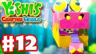 Yoshi's Crafted World - Gameplay Walkthrough Part 12 - Gator Train Boss Fight! Rumble Jungle 100%!