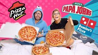 PROBANDO DOMINOS PIZZA vs PAPA JOHNS vs PIZZA HUT /  CUAL ES MEJOR ?