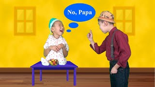 Johny Johny Yes Papa Funny Rhymes for Kids. Educational Songs For Children