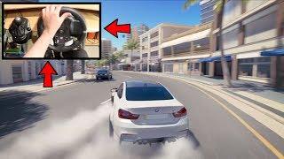 Forza Horizon 3 Drifting Like A BOSS (Steering Wheel w/Clutch + Shifter) BMW M4 No HUD Gameplay
