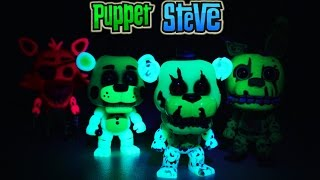 Five Nights at Freddy's Fnaf Funko Pop Glow in the Dark Exclusives (Pt 3) Walmart Gamestop Unboxing