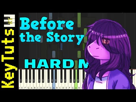 Before The Story From Deltarune - Hard Mode [Piano Tutorial] (Synthesia)