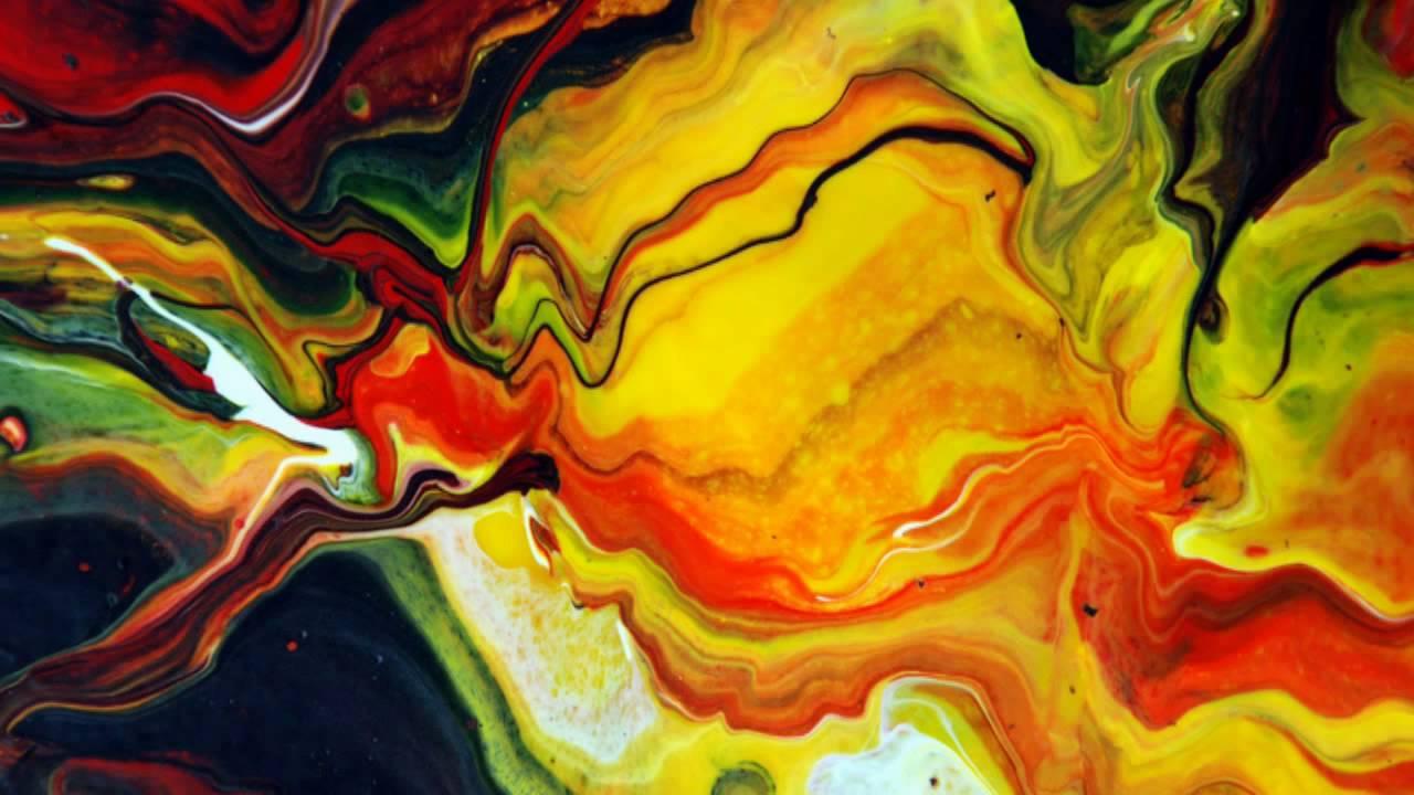 Abstract Fluid Painting Gallery By Mark Chadwick - YouTube