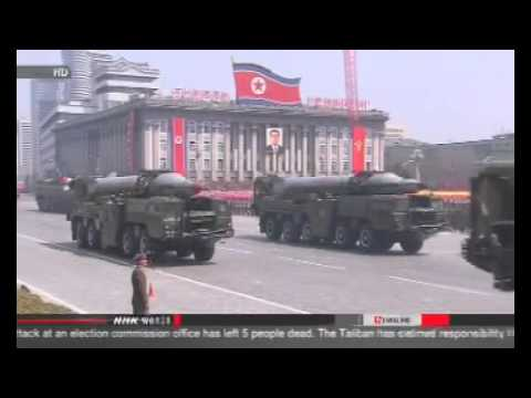 North Korea test-fires two mid-range missiles