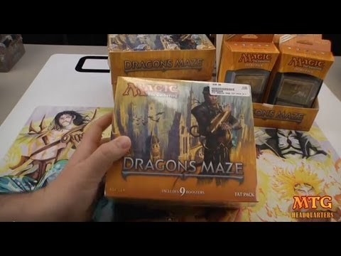 Magic The Gathering Dragons Maze Fat Pack Opening & First Review