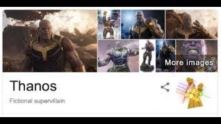 Avengers Endgame Easter Egg  **Google Thanos**