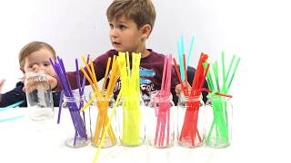 Play With Us Colorful Straw Sorting #Familyinmotion