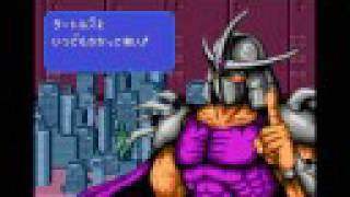 Teenage Mutant Ninja Turtles: Return of the Shredder Intro Sega Genesis