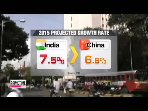 India expected to overtake China′s growth: IMF   세계곳곳 성장률 역전…인도>중국