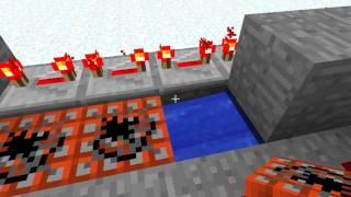 Minecraft - Wie man eine TNT-Kanone baut! (mittlere Reichweite)