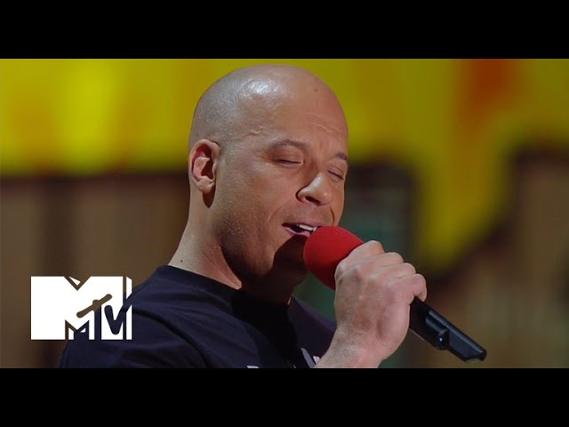 Vin Diesel Sings 'See You Again' For Paul Walker At The Movie Awards   MTV