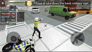 Police Car Driving: Motorbike Riding - Police Officer Simulator
