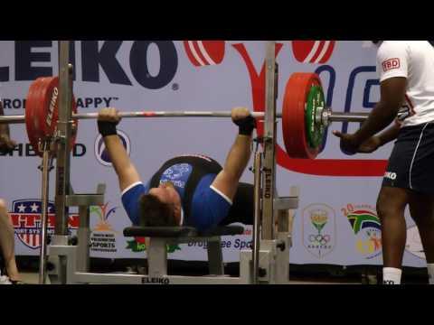 Timo Hokkanen 245 kg European record class -120kg, World Bench Press Championships 2016