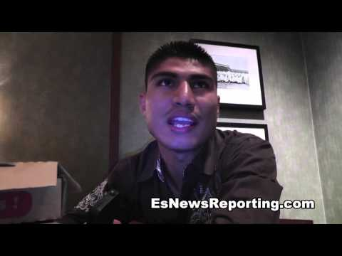 robert garcia and mikey garcia at the victory party - EsNews Boxing