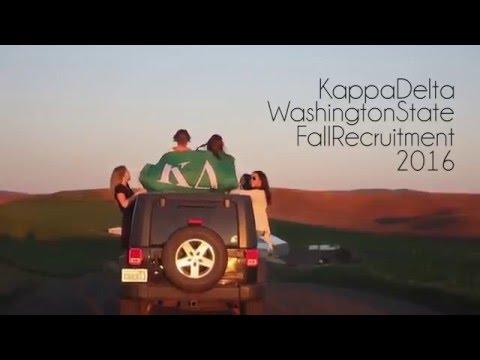 Kappa Delta Washington State University Recruitment