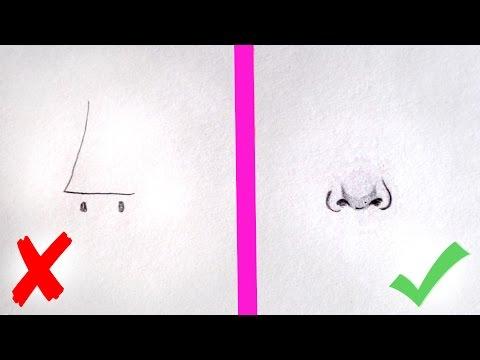 КАК НАРИСОВАТЬ НОС? ✎ ОСНОВНЫЕ ОШИБКИ ✎ Урок Рисования ✎ КАК НАУЧИТЬСЯ РИСОВАТЬ