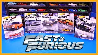Hot Wheels Fast and Furious 1/4 Mile Muscle Premium Set RACE